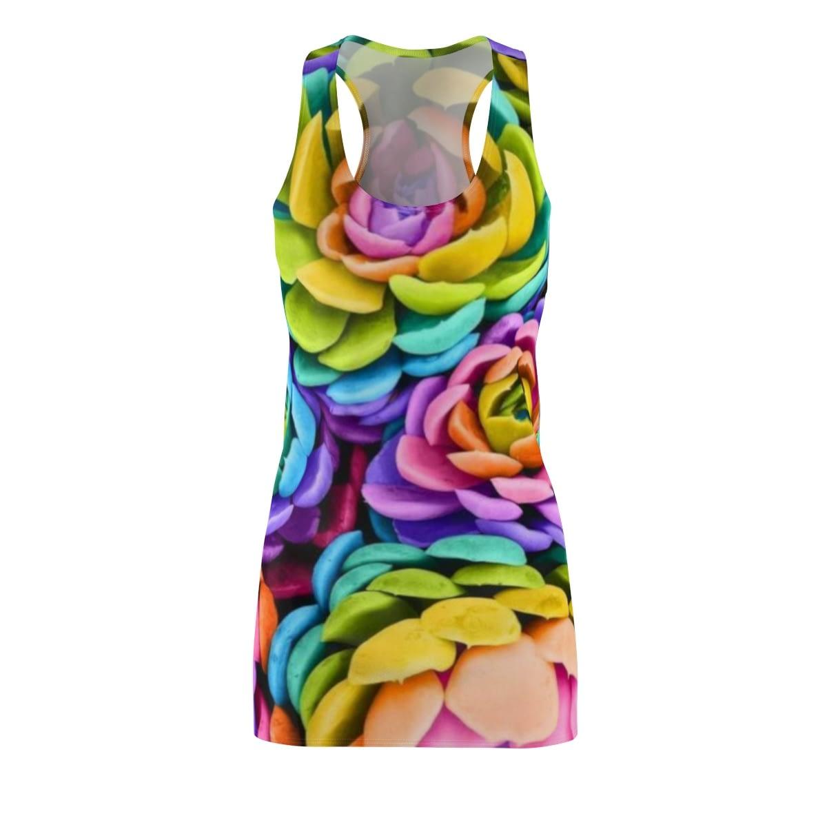 Women/'s Flower Cut /& Sew Racerback Dress